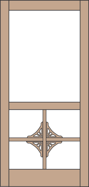 Model 432 Wood Screen Door
