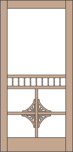 Model 433 Wood Screen Door