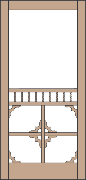 Model 434 Wood Screen Door