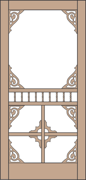 Model 435 Wood Screen Door