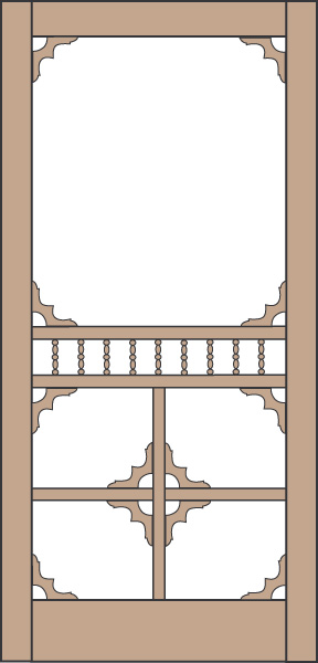 Model 437 Wood Screen Door