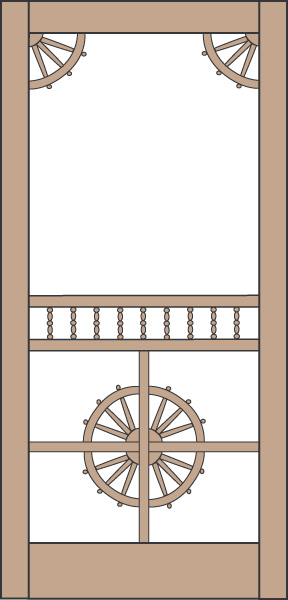 Model 439 Wood Screen Door