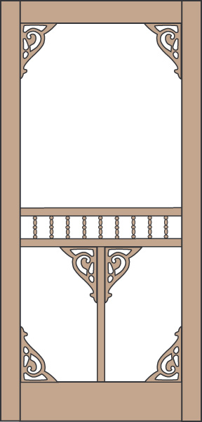Model 445 Wood Screen Door