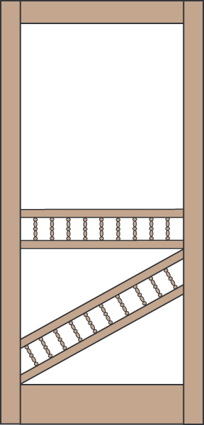 Model 446 Wood Screen Door