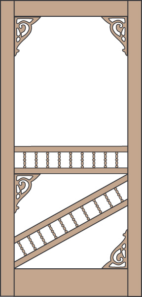 Model 450 Wood Screen Door