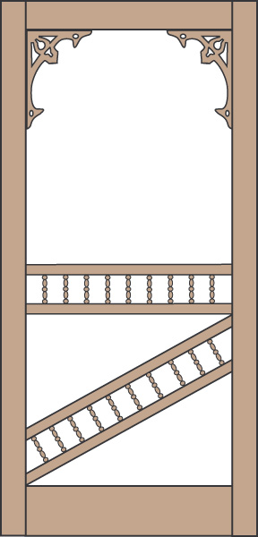 Model 451 Wood Screen Door