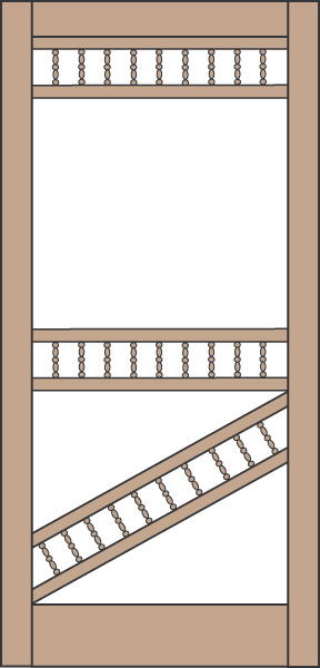 Model 452 Wood Screen Door