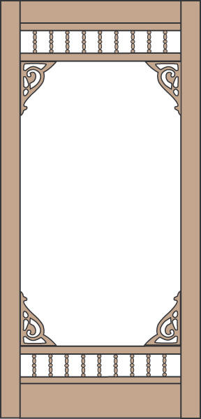 Model 455 Wood Screen Door