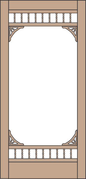 Model 456 Wood Screen Door