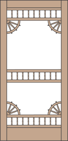 Model 460 Wood Screen Door