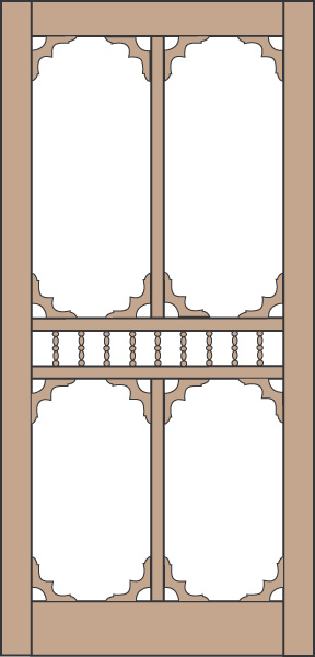 Model 463 Wood Screen Door